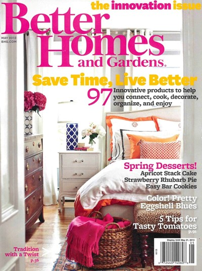 from better homes and gardens magazine may 2013 the innovation issue