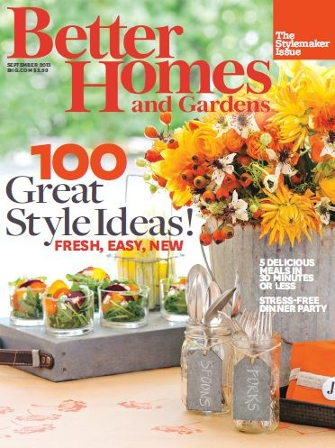 Better Homes And Gardens Magazine September 2013 The Stylemaker Issue Eat Your Books