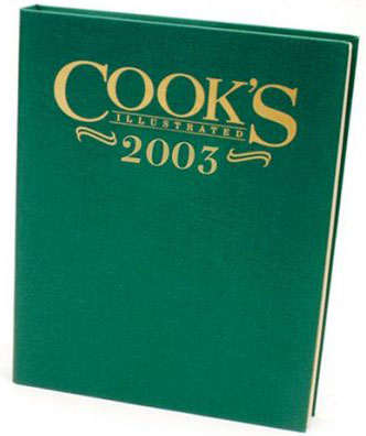 Cook's Illustrated 2003 Annual Cook's Illustrated Magazine