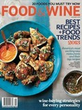 Food & Wine Magazine, January 2013