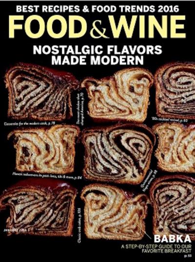Food & Wine Magazine, January 2016