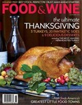 Food &amp; Wine Magazine, November 2012